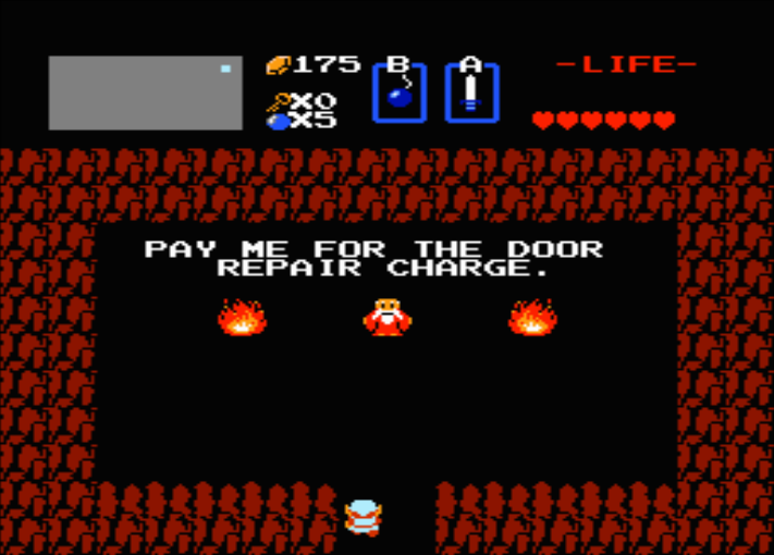 Not every door bombed open in The Legend Of Zelda is a good find; some have bad consequences for Link.